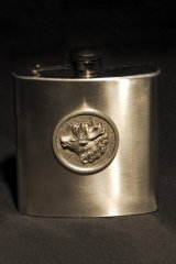 Stainless steel flask motive Stag