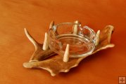 Ashtray with fallow deerantler